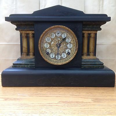 Antique Sessions Cathedral Chiming 8 Day Mantle Clock 4 Colum Great Condition