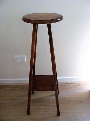 OAK PLANT LAMP STAND, ARTS & CRAFTS, EARLY 1900s, VGC, CAN DELIVER