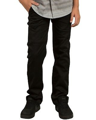 Volcom Frickin Modern Chino Trousers - Black - Boys Trousers
