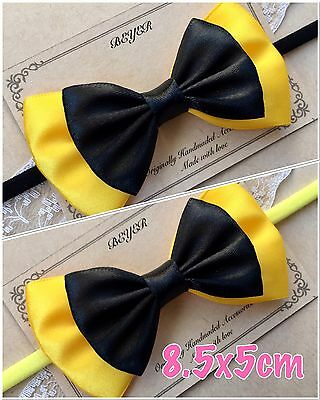 8.5x5cm Emma Wiggle Satin Bow Soft Elastic Headband Hair Wiggles Birthday Gift