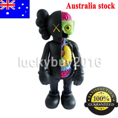 "16"" KAWS Half Dissected Companion Action Figures Toy Black"