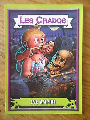 Image * Les CRADOS 3 N°80 * 2004 album card Sticker FRANCE Garbage Pail Kid