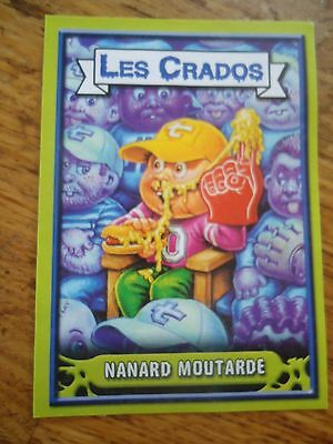 Image * Les CRADOS 3 N°46 * 2004 album card Sticker FRANCE Garbage Pail Kid