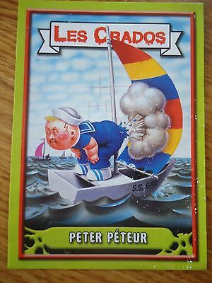 Image * Les CRADOS 3 N°23 * 2004 album card Sticker FRANCE Garbage Pail Kid