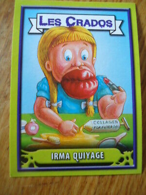 Image * Les CRADOS 3 N°127 * 2004 album card Sticker FRANCE Garbage Pail Kid