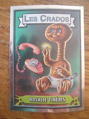 Image * Les CRADOS 3 N°139 * 2004 album card Sticker FRANCE Garbage Pail Kid