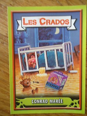 Image * Les CRADOS 3 N°107 * 2004 album card Sticker FRANCE Garbage Pail Kid