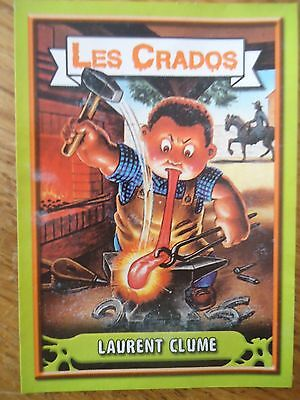 Image * Les CRADOS 3 N°63 * 2004 album card Sticker FRANCE Garbage Pail Kid
