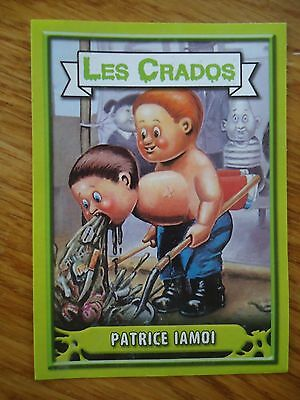 Image * Les CRADOS 3 N°124 * 2004 album card Sticker FRANCE Garbage Pail Kid