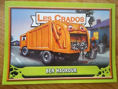 Image * Les CRADOS 3 N°64 * 2004 album card Sticker FRANCE Garbage Pail Kid