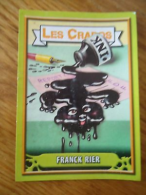 Image * Les CRADOS 3 N°19 * 2004 album card Sticker FRANCE Garbage Pail Kid
