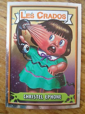 Image * Les CRADOS 3 N°66 * 2004 album card Sticker FRANCE Garbage Pail Kid