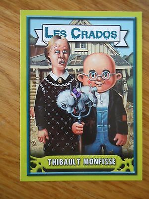 Image * Les CRADOS 3 N°102 * 2004 album card Sticker FRANCE Garbage Pail Kid