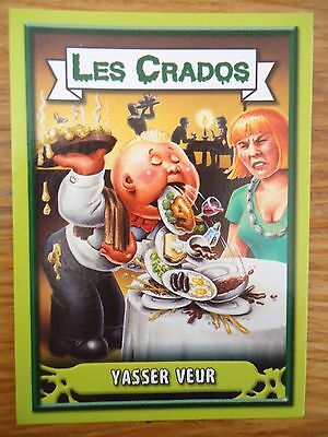 Image * Les CRADOS 3 N°166 * 2004 album card Sticker FRANCE Garbage Pail Kid