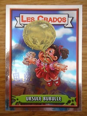 Image * Les CRADOS 3 N°22 * 2004 album card Sticker FRANCE Garbage Pail Kid