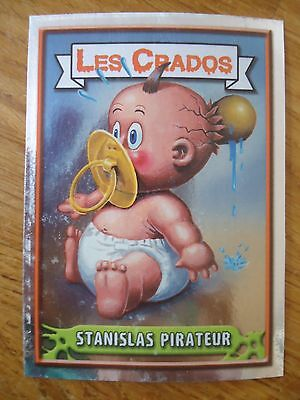 Image * Les CRADOS 3 N°113 * 2004 album card Sticker FRANCE Garbage Pail Kid
