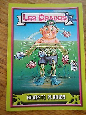 Image * Les CRADOS 3 N°56 * 2004 album card Sticker FRANCE Garbage Pail Kid