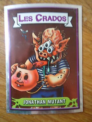 Image * Les CRADOS 3 N°76 * 2004 album card Sticker FRANCE Garbage Pail Kid