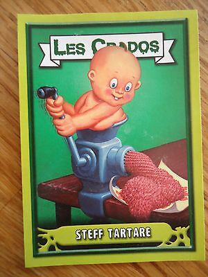 Image * Les CRADOS 3 N°167 * 2004 album card Sticker FRANCE Garbage Pail Kid