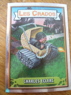 Image * Les CRADOS 3 N°61 * 2004 album card Sticker FRANCE Garbage Pail Kid