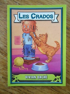 Image * Les CRADOS 3 N°98 * 2004 album card Sticker FRANCE Garbage Pail Kid
