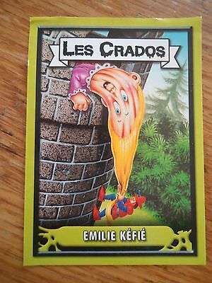 Image * Les CRADOS 3 N° G4 * 2004 album card Sticker FRANCE Garbage Pail Kid
