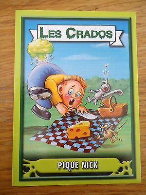Image * Les CRADOS 3 N°173 * 2004 album card Sticker FRANCE Garbage Pail Kid