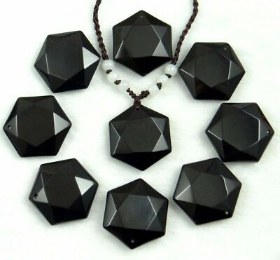 b21c48cba5d6c BLACK OBSIDIAN NATURAL Stone Pendant Necklaces For Women and Men ...