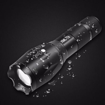 18650 10000Lumens Zoomable Tactical Military LED Flashlight Torch Lamp Light