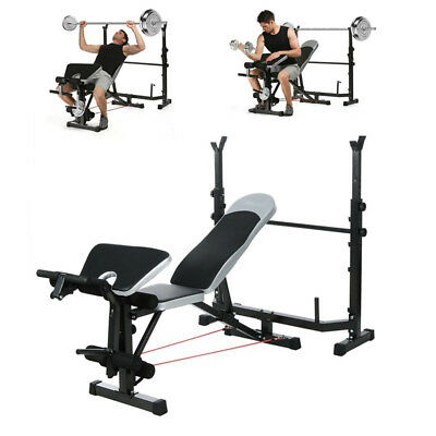 OLYMPIC FOLDING WEIGHT Bench Incline Lift Workout Training
