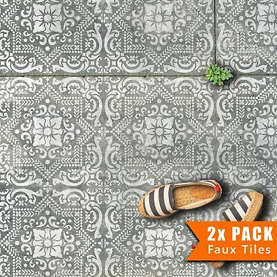 EVORA Portugese Mediterranean Tile - Furniture Wall Floor Stencil for Painting
