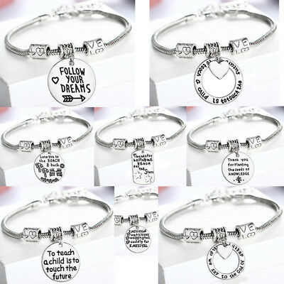 Vintage Bracelet Pendant Charm Jewelry Bangle Love Pet Lover Dog Gifts Presents