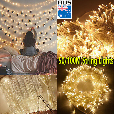 50/100M Warm White LED Fairy String Lights For Home Stair Bedroom Wall Decor 31V