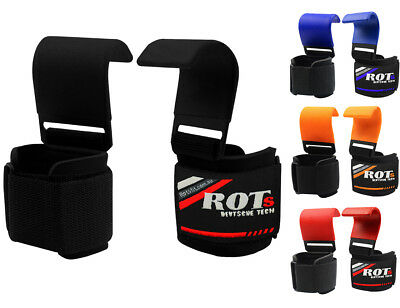 ROTS Power Weight Lifting Training Gym Straps Hook bar Wrist Support Lift Gloves