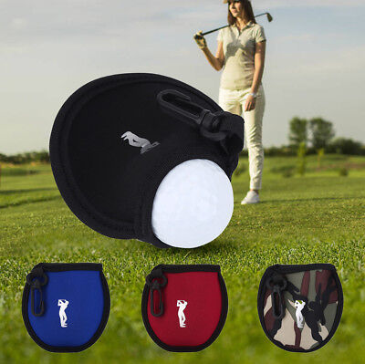 Mini Neoprene Golf Ball Bag Holder Golf Accessory Pouch Small Waist Pack