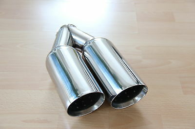 Stainless Steel Sport End Pipe Weld-On Tailpipe 0 3/32x3 17/32in Round