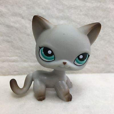 Littlest Pet Shop LPS Loose Toys #391 Green Eye Short Hair Kitty Cat