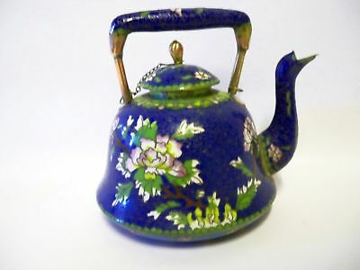 Chinese Cloisonné Wine Pot or Teapot from the Qing Period  c1880s