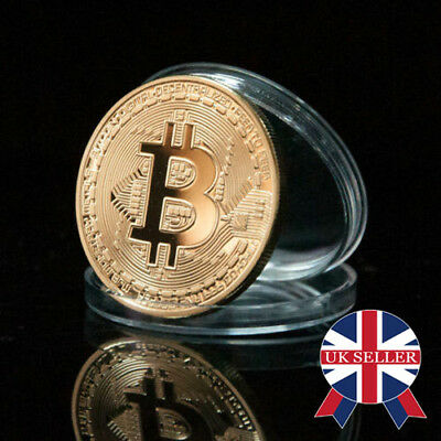 1PC Rare Bitcoin Collectible In Stock Golden Iron Commemorative Coin Gifts UK