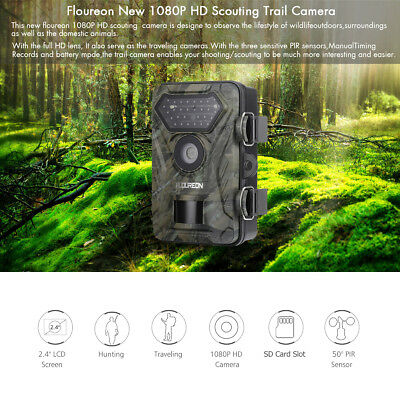 1~2x 1080P HD 12MP Überwachung Wildkamera Infrarot Jagd​Video Camcorder IP54 PIR