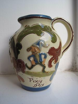Aller Vale Devon Pottery Pixy Fine And Pixy Gay Pixie Jug