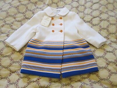 Childs NWT Retro/Vintage Dead Stock 70s Traditional, Girls Coat age 18 mths.
