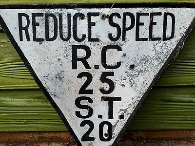 South Australian Railways Port Lincoln Division Speed Board for R.C. & S.T. RARE