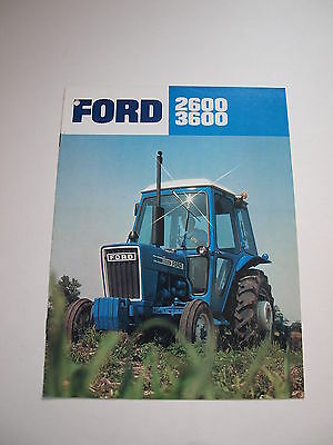 Ford 2600 & 3600 Tractor w/ Cab Color Brochure 8 pg. original vintage '79 MINT
