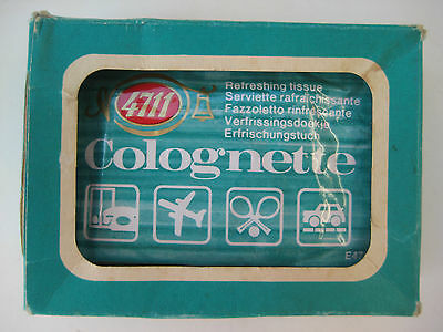 4711 Colognette Refreshing Tissues 4 Sealed Collectable Vintage Original Package