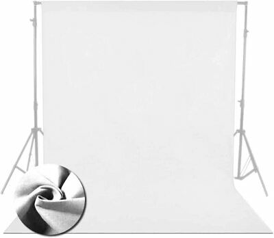 2x3m / 6.6x9.8ft Pure Bleached White 100% Cotton Muslin  Background by Lencarta