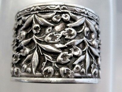Solid Silver Chinese Export Silver Ring Napkin Ring China