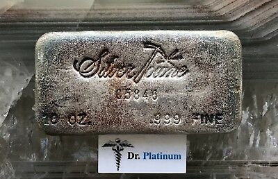 SilverTowne, 10 Ounce, .999 Silver Bar *Rainbow Toning*