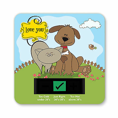 Baby Bath Thermometer - Cat And Dog Design