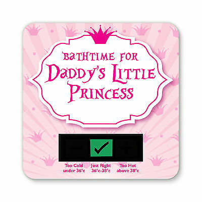 Baby Bath Thermometer - Daddys Little Princess Design